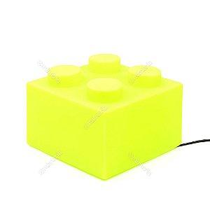 Luminária Bloco de Montar Verde