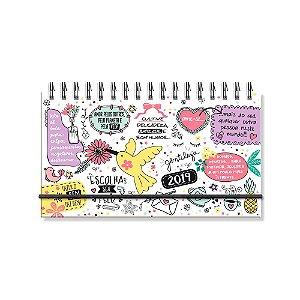 Agenda Semanal Beija-Flor Branca Mini 2019
