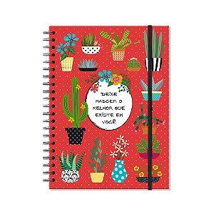 Caderno Universitário Cactos 96 folhas