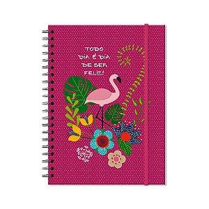 Caderno Universitário Flamingo 96 folhas