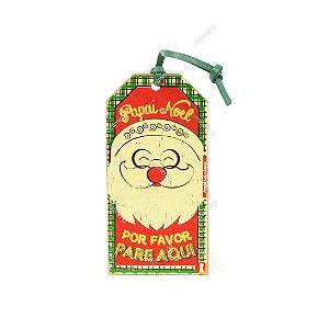 Plaquinha Tag Papai Noel