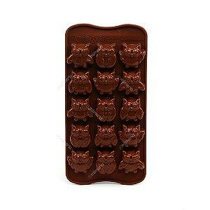 Forma de Chocolate Corujas