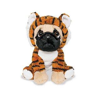 Cachorro Pug de Pelúcia Tigrezinho