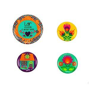 Kit Imãs Resinados Casa Color Lar