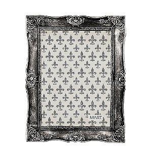 Porta Retrato Vintage Prata Envelhecido 20x25