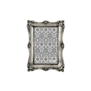 Porta Retrato Antique Prata Antigo 10x15