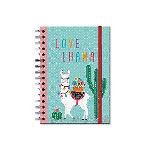 Caderno Clássico Decorado Lhama