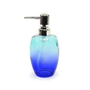 Porta Sabonete Líquido de Vidro Azul e Roxo