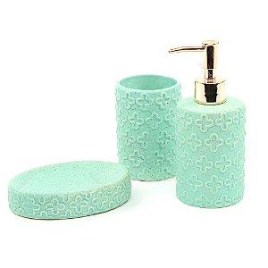Kit de Banheiro em Cerâmica Menta