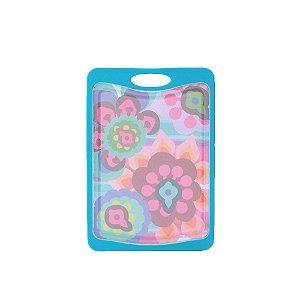 Tábua de Corte de Plástico Floral Gala Pequena