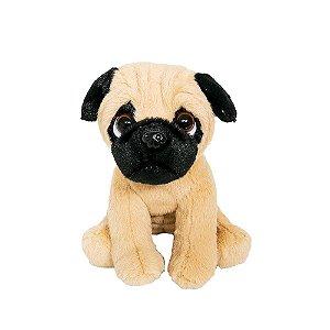 Cachorro Mini Pug de Pelúcia