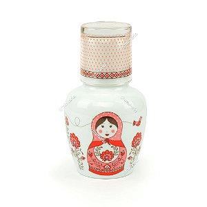 Moringa de Porcelana Matrioska Rosa 750 ml