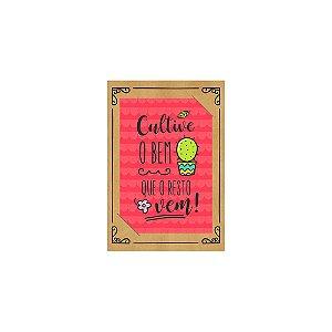 PostCard com Imã Cacto Cultive o Bem Vermelho