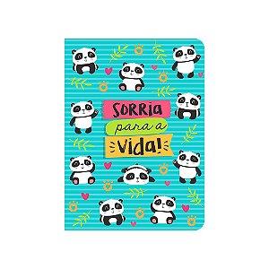 Caderneta Panda Sorria Azul Média