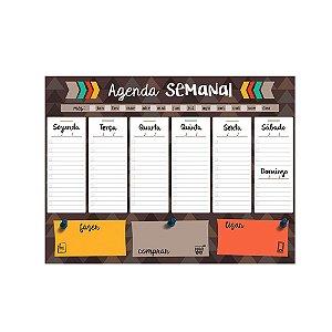 Bloco Planner de Mesa Agenda Semanal Fazer Comprar Ligar