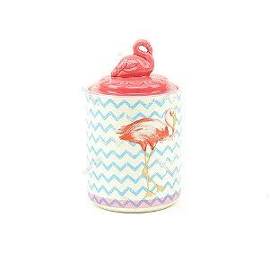 Pote de Cerâmica Flamingo Rosa Grande