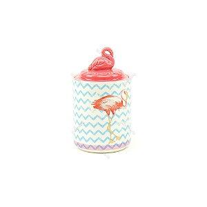 Pote de Cerâmica Flamingo Rosa Pequeno