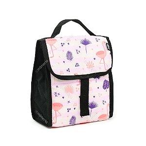 Bolsa Térmica Dobrável Flamingo Rosa