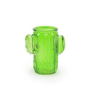Copo de Vidro Cactos Verde