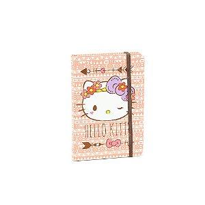 Caderneta com Elástico Hello Kitty Rosa