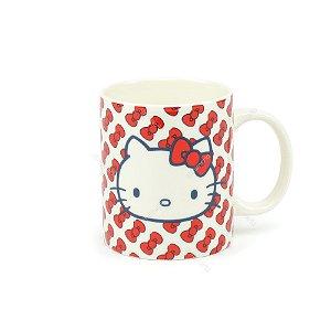 Caneca de Porcelana Hello Kitty Little Lacinhos Vermelhos