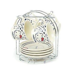 Conjunto de Xícaras de Café Hello Kitty