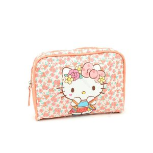 Necessaire Hello Kitty Flores Rosa