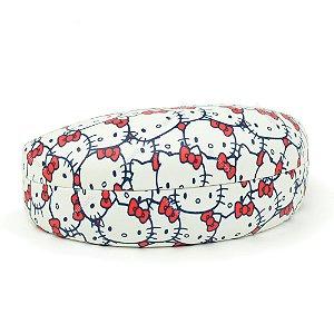 Porta Óculos Hello Kitty Laços Vermelhos