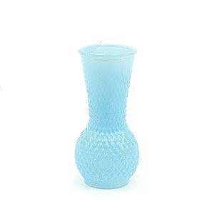 Vaso em Vidro Azul Médio