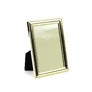 Porta Retrato Metalizado Points Dourado 10x15