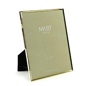 Porta Retrato Metalizado Liso Dourado 20x25