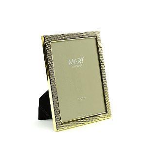 Porta Retrato Metalizado Multi Points Dourado 15x20