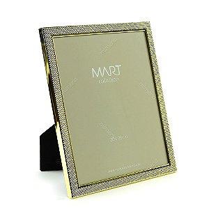Porta Retrato Metalizado Multi Points Dourado 20x25