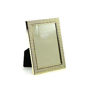 Porta Retrato Metalizado Multi Points Dourado 10x15