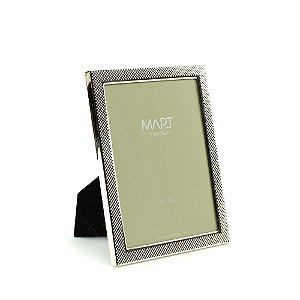 Porta Retrato Metalizado Multi Points Prata 15x20