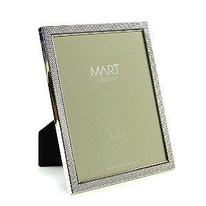 Porta Retrato Metalizado Multi Points Prata 20x25