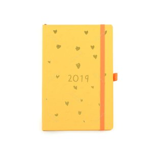 Agenda Semanal Romantic Amarela 2019