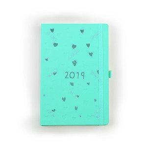 Agenda Semanal Romantic Verde-Água 2019