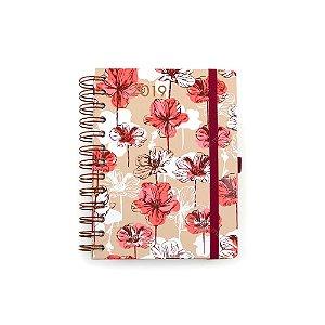 Agenda Diária Floral Rosa 2019
