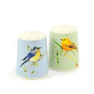 Saleiro e Pimenteiro de Cerâmica Pássaros