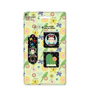 Conjunto Marcador de Páginas Magnético Frida Color