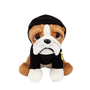 Cachorro Bulldog de Pelúcia Policial