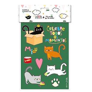 Cartela Magnética Gatos