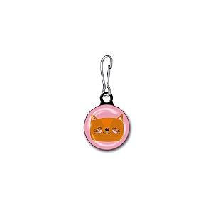 Button para Zíper Gato Caramelo
