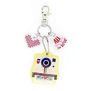 Chaveiro Decorado Love Polaroide
