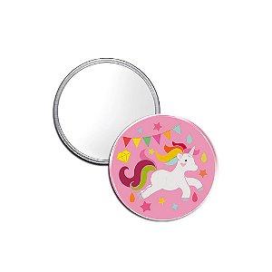 Espelho Pocket Unicórnio Rosa