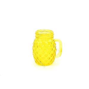 Mini Copo de Vidro Abacaxi Amarelo