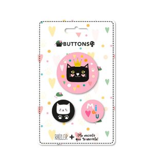 Kit Buttons Gatos