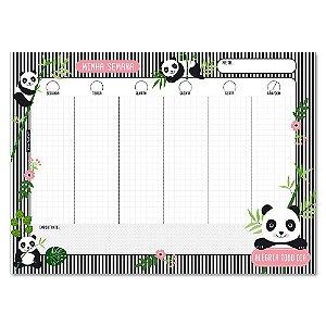 Bloco Planner Semanal Panda