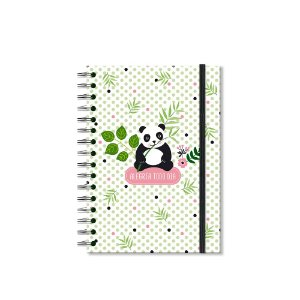 Caderno Clássico Decorado Panda